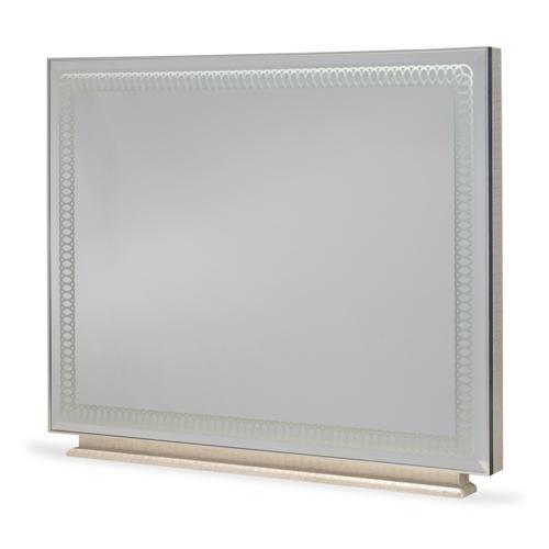 Rectangular Dresser Mirror Crystal Croc