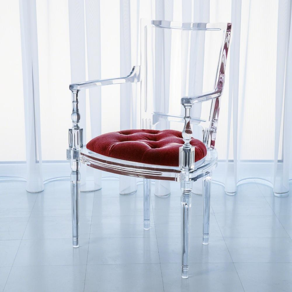 See Details - Marilyn Acrylic Arm Chair-Red Pepper