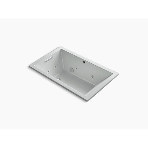"Ice Grey 60"" X 36"" Heated Bubblemassage Air Bath With Whirlpool, Reversible Drain"