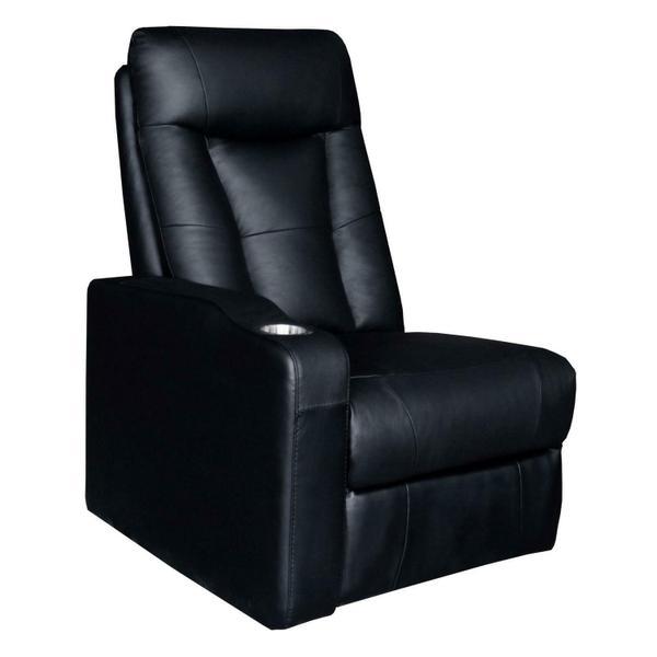See Details - Pavillion Black Leather Left Recliner