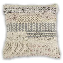 "L333 Ivory/blush Cabo Pillow 18"" X 18"""