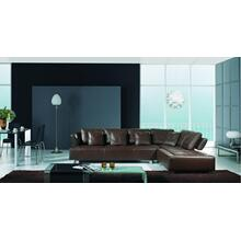 Product Image - BO-3878 - Contemporary Brown Leather Sectional Sofa