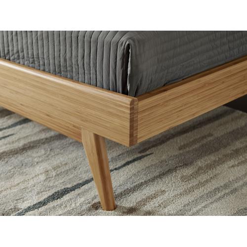 Azara California King Platform Bed, Caramelized