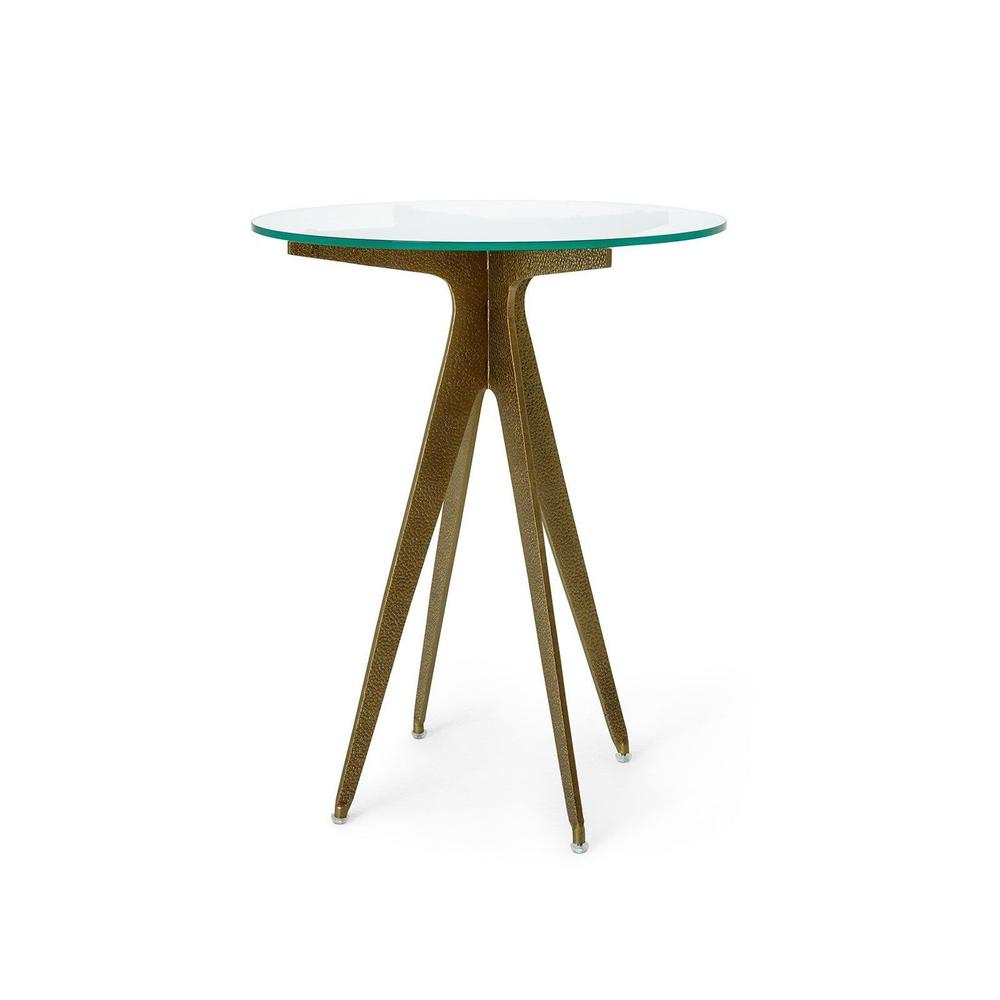 Bentley Side Table, Champagne Bronze