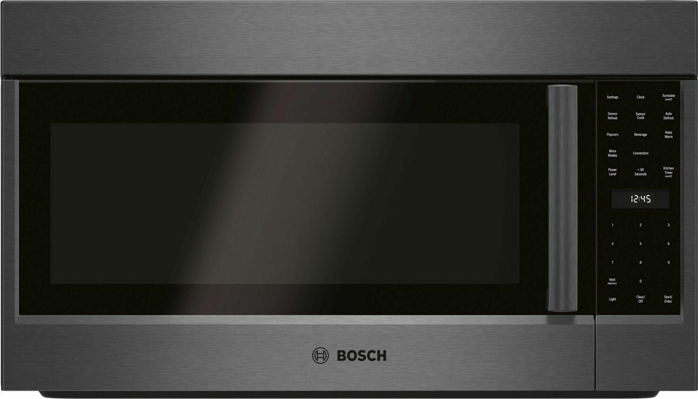 Bosch800 Series Over-The-Range Microwave 30'' Left Sideopening Door, Black Stainless Steel Hmv8044u