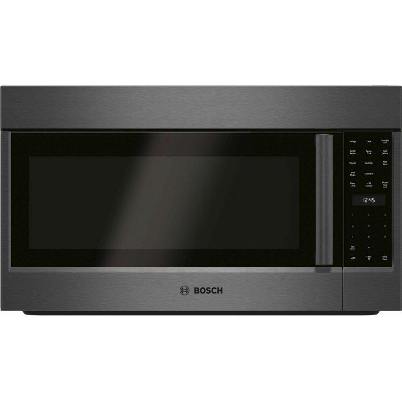 800 Series Over-The-Range Microwave 30'' Left SideOpening Door, Black Stainless Steel HMV8044U