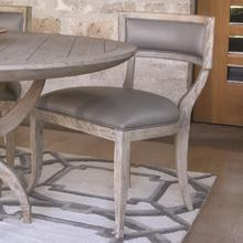 View Product - Klismos Chair-Grey Leather