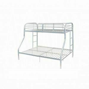 ACME Tritan Twin/Full Bunk Bed - 02043SI - Silver