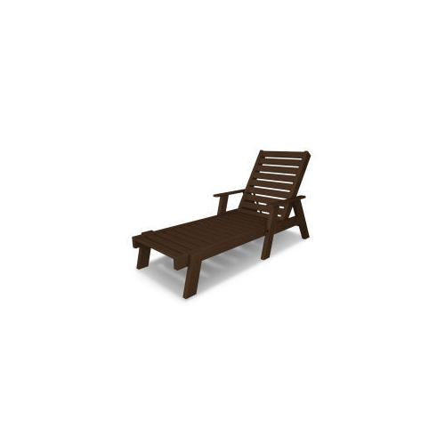 Polywood Furnishings - Captain Chaise with Arms in Mahogany