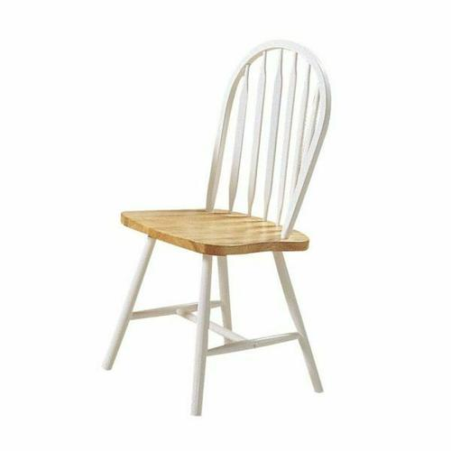 ACME Farmhouse Side Chair (Set-4) - 02482NW - Natural & White