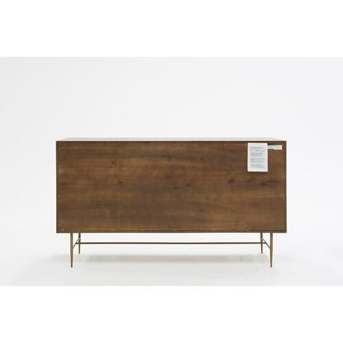 VIG Furniture - Modrest Selena Modern Acacia & Brass Dresser