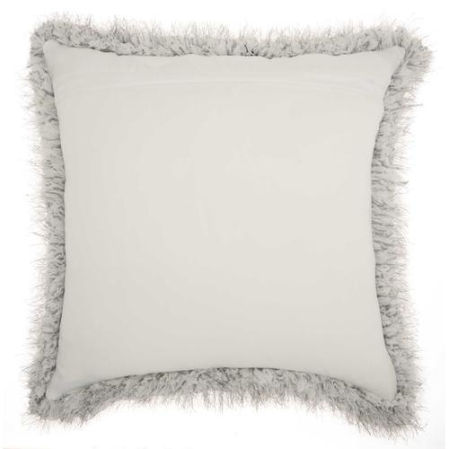 """Shag We403 Silver 20"""" X 20"""" Throw Pillow"""