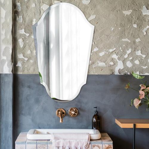 Howard Elliott - Frameless Arched Vanity Mirror