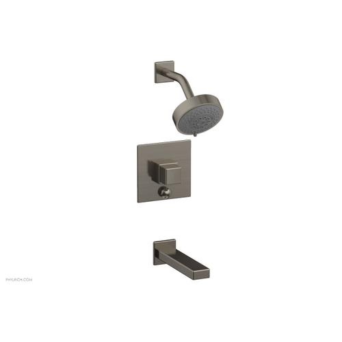 MIX Pressure Balance Tub and Shower Set - Cube Handle 290-29 - Pewter