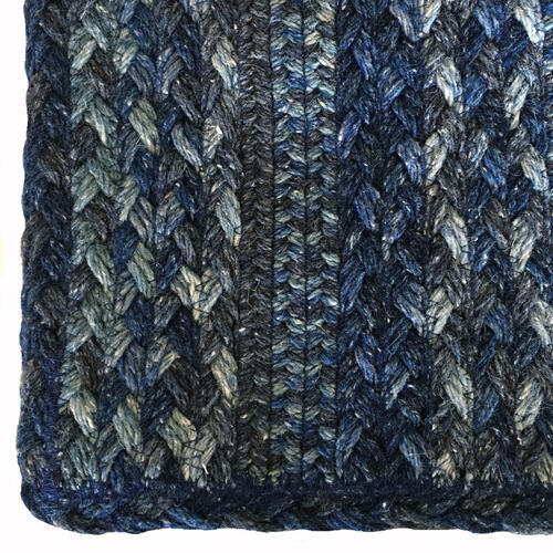 Affinity Blue Steel Braided Rugs