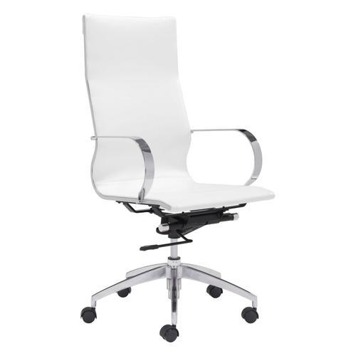 Zuo Modern - Glider High Back Office Chair White
