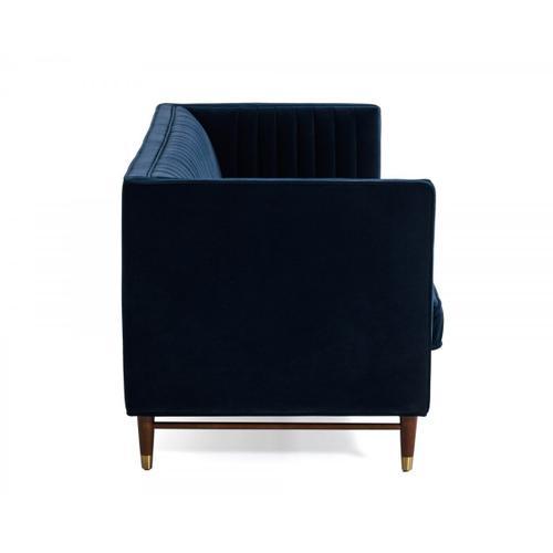 Gallery - Divani Casa Miramar - Modern Blue Velvet Sofa