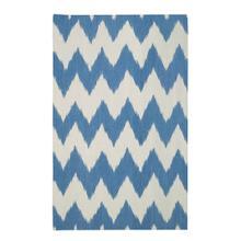 Wild Chev Grecian Blue Flat Woven Rugs