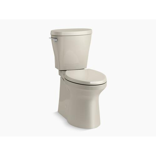 Sandbar Betello With Continuousclean Comfort Height Two-piece Elongated 1.28 Gpf Toilet With Continuousclean, Skirted Trapway, Revolution 360 Swirl Flushing Technology and Left-hand Trip Lever, Seat Not Included