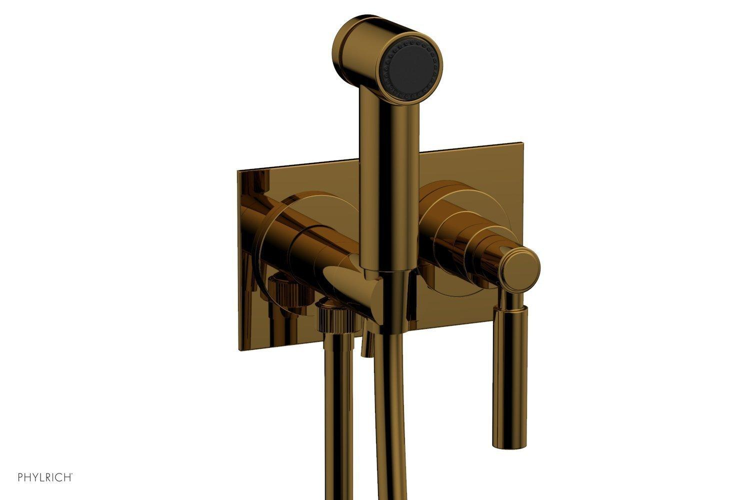 BASIC Wall Mounted Bidet, Lever Handle 130-65 - French Brass