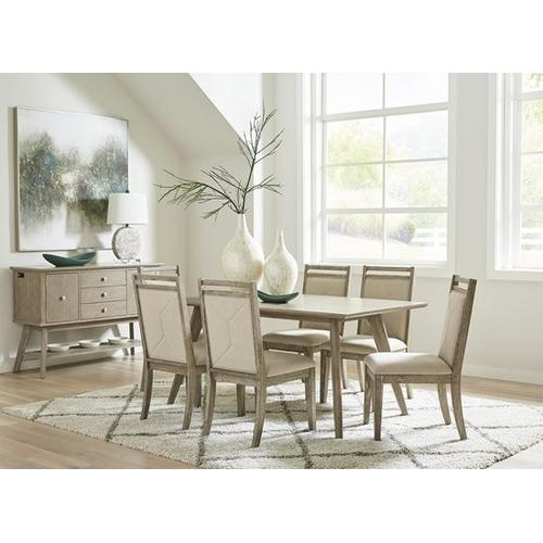 Upholstered Dining Chairs, Set of 2 - Weathered Taupe Finish