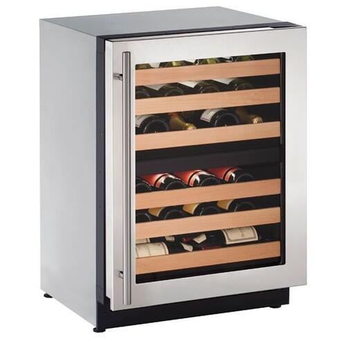"24"" Dual-zone Wine Refrigerator With Stainless Frame Finish and Field Reversible Door Swing **OPEN BOX ITEM** West Des Moines Location"