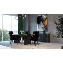 View Product - Nova Domus Cartier Modern Black & Rosegold Dining Table