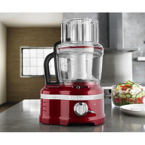 Pro Line® Series 16-Cup Food Processor with Die Cast Metal Base and Commercial-Style Dicing Kit Candy Apple Red