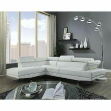 ACME Connor Sectional Sofa - 52645 - Cream PU