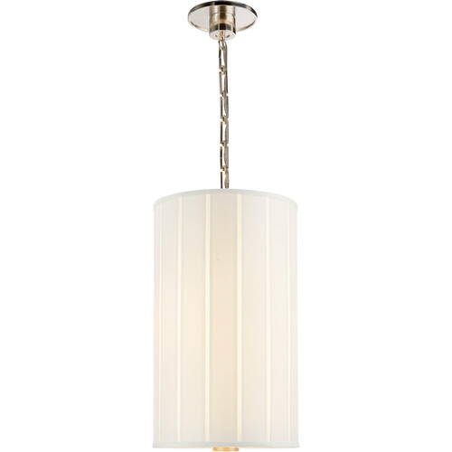 Barbara Barry Perfect Pleat 2 Light 13 inch Soft Silver Hanging Shade Ceiling Light