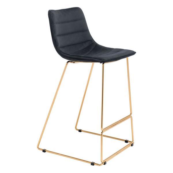 Adele Bar Chair Black & Gold