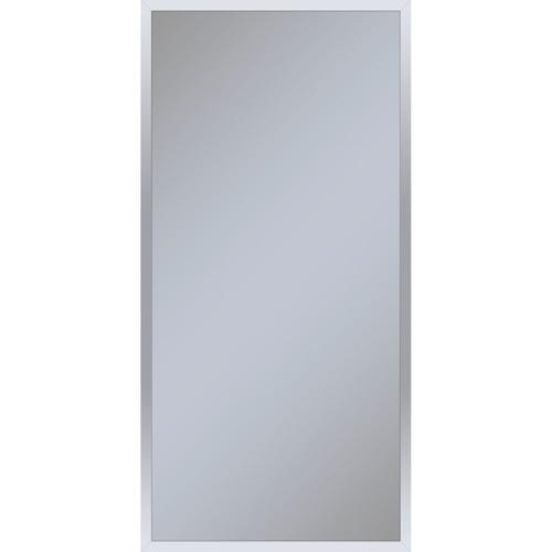 """Profiles 19-1/4"""" X 39-3/8"""" X 4"""" Framed Cabinet In Chrome With Electrical Outlet, Usb Charging Ports, Magnetic Storage Strip and Left Hinge"""