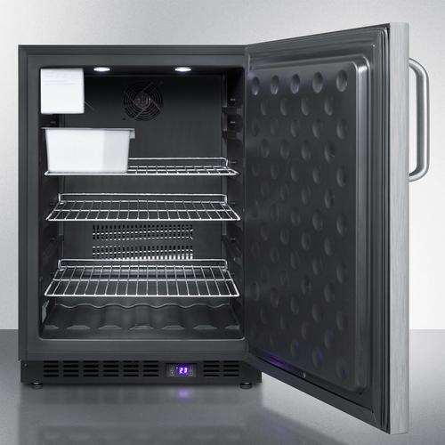 Frost-free Outdoor All-freezer In Complete Stainless Steel, With Icemaker, Digital Thermostat, Towel Bar Handle, and Lock; Built-in or Freestanding Use
