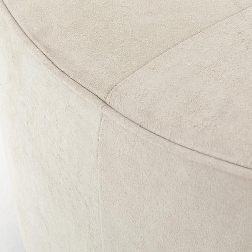 Whistler Oyster Cover Sinclair Large Round Ottoman
