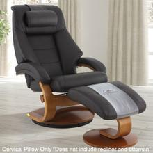 View Product - Mandal Cervical Pillow in Espresso Top Grain Leather