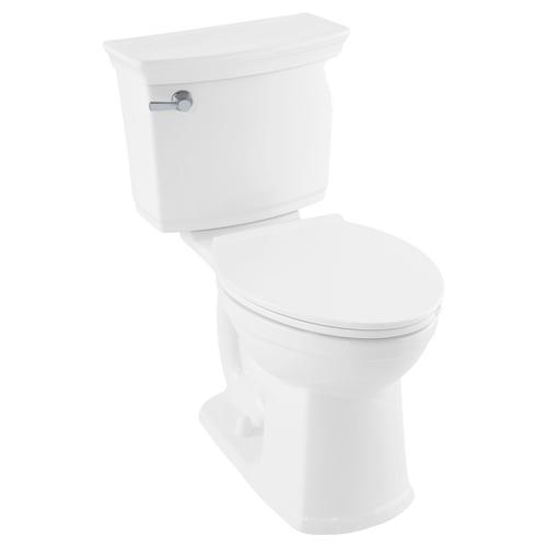 Contemporary VorMax Elongated Toilet Seat with Trivantage  American Standard - Linen