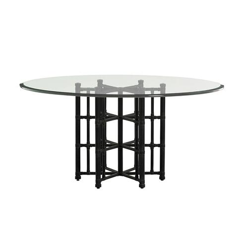 Stellaris Dining Table With Glass Top 54 Inch