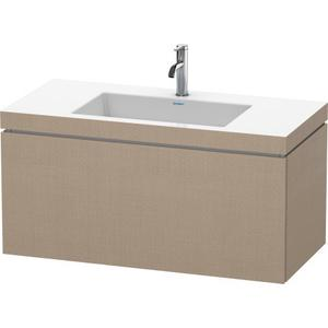 Furniture Washbasin C-bonded With Vanity Wall-mounted, Linen (decor)