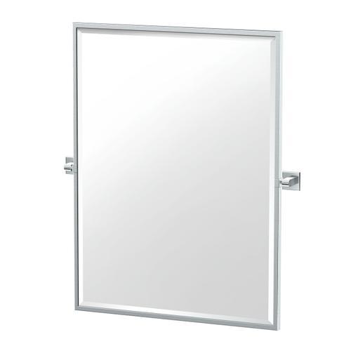 Mode Framed Rectangle Mirror in Satin Nickel