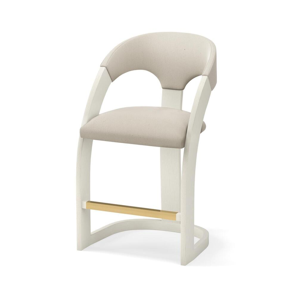 See Details - Delia Counter Stool-Antique White-Muslin