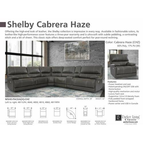 SHELBY - CABRERA HAZE Power Right Arm Facing Recliner