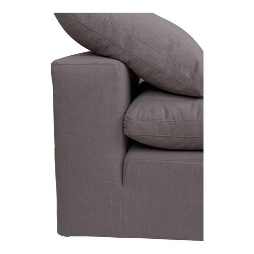 Moe's Home Collection - Clay Slipper Chair Livesmart Fabric Light Grey