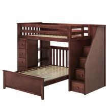 See Details - All in One Staircase Loft Bed Storage + Full Bed Espresso
