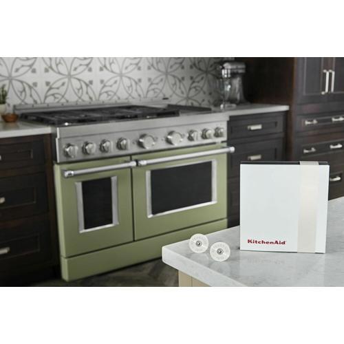 KitchenAid - KitchenAid® Commercial-Style Range Handle Medallion Kit - Mascarpone