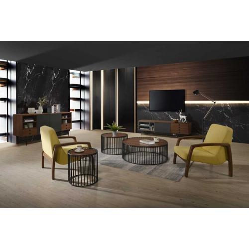 VIG Furniture - Modrest Bronson Mid-Century Modern Walnut & Grey TV Stand