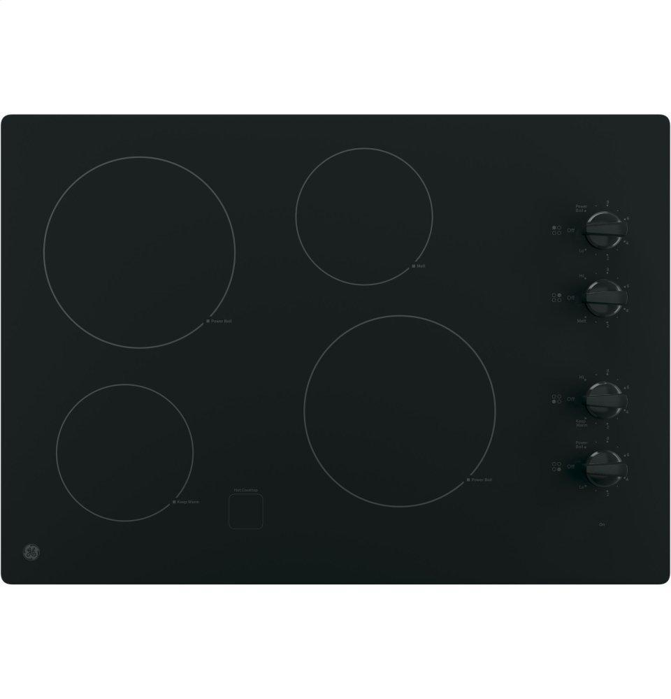 """®30"""" Built-In Knob Control Electric Cooktop"""