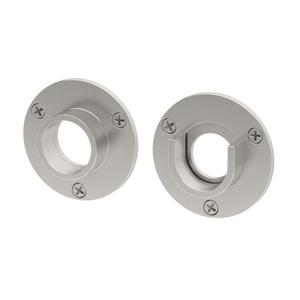 Shower Rod Ends in Satin Nickel Product Image