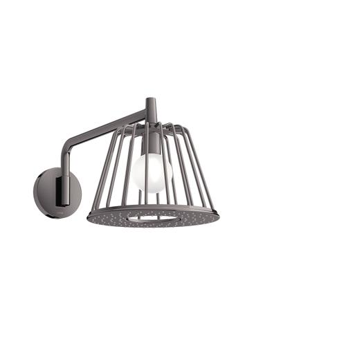 Polished Black Chrome LampShower 275 1jet with shower arm