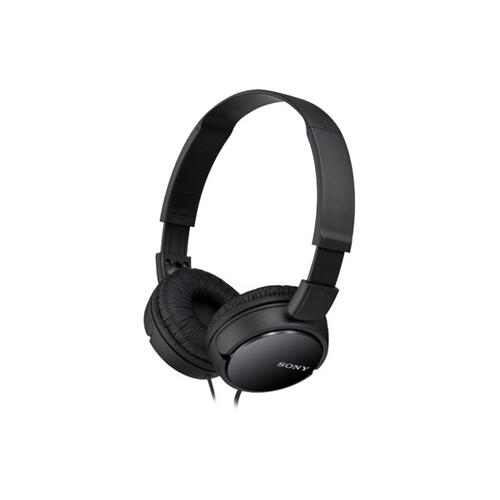 Sony - Wired On-Ear Headphones - Black