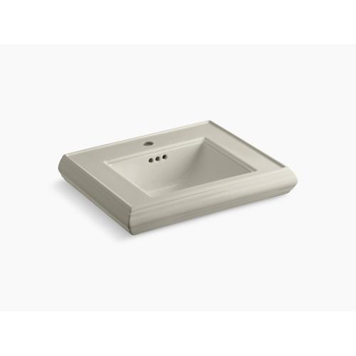 Sandbar Pedestal/console Table Bathroom Sink Basin With Single Faucet-hole Drilling